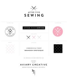After Five Sewing Brand Board by Aviary Creative