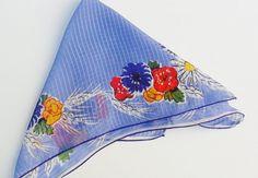 Vintage Handkerchief Blue Pin Stripe Background by OldLikeUs