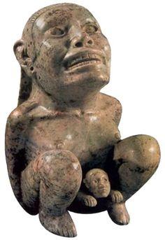 Tlazolteololt,Diosa de la Madre Tierra y de la sexualidad.Ha sido representada de muchas maneras,en esta ocacion esta pariendo y puede verse la expresion de dolor en su rostro. MOMO Nueva York