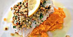 Ovnsbakt torsk med pinjekjerner og søtpotet - MmmmMM!