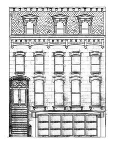 coloring pages brownstone - photo#5