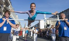 A girl performs during a parade to open the German Gymnastics Festival on May 18, 2013 in Mannheim, western Germany. The gymnastics competition and sports-for-all event is running until May 25, 2013 in several venues of the Rhine-Neckar region. Organisers expect more than 80,000 participants. AFP PHOTO / UWE ANSPACH / GERMANY OUTUWE ANSPACH/AFP/Getty Images