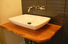 Coolest bathroom vanity/ counter top ever! www.nightingalecompany.com