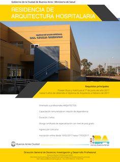 GCBA | RESIDENCIA DE ARQUITECTURA HOSPITALARIA  El Ministerio de Salud del Gobierno de la Ciudad de Buenos Aires abre la inscripción a la Residencia de Arquitectura Hospitalaria, dirigida a profesionales arquitectos de no más de cinco años de recibidos.  Inscripción online hasta el 17 de marzo de 2017.´  Más info: http://ly.cpau.org/2naa3CG  #AgendaCPAU #RecomendadoARQ #ConcursosyBecas