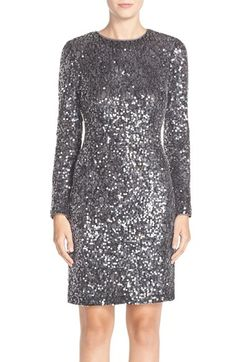 Ninja  Maia Sequin Lace Sheath Dress available at #Nordstrom