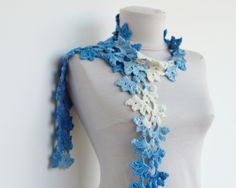 Blue Ombre Scarff.  This Etsy store has really different designs.