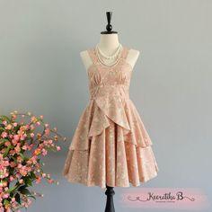 Roses Petal - Summer's Whisper Collection Spring Summer Sundress Floral Pink Party Dress Wedding Bridesmaid Dresses Floral Tea Dress XS-XL