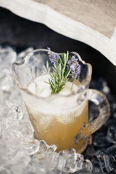 Is this lavender rosemary lemonade I see? Refreshing.
