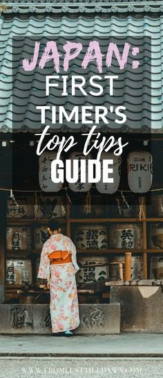 First time in Japan? From the top five best places to visit in Japan to the top five things you should always have on you while traveling there, here's your top tips for traveling to Japan for the first time. This breaks planning down so easily -- PIN FOR LATER -- #tokyo #japantravel #japantraveltips #JAPAN