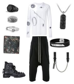 """Welcome to Berghain !"" by cacagasp on Polyvore featuring Maison Margiela, Rick Owens, Dsquared2, Givenchy, David Yurman, men's fashion e menswear"