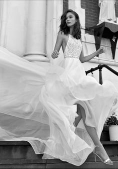 Halter neck open back a line Wedding Dress Wedding Dress : Flora Bride Civil Wedding Dresses, Champagne Bridesmaid Dresses, Western Wedding Dresses, Boho Wedding Dress, Bridal Dresses, Wedding Gowns, Halter Wedding Dresses, Wedding Outfits, Wedding Wear