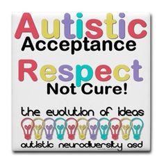 Autistic Acceptance #Tile #Coaster #Autism #ASD #Aspergers #Neurodiversity #AutisticAcceptance