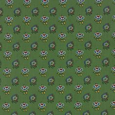 A La Carte Leaves and Hearts in Green from by TheFabricHive
