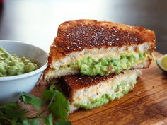 Grilled Cheese with Guacamole #yum
