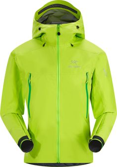 Beta LT Jacket Men's Lightweight, waterproof/breathable jacket made from GORE-TEX® Pro with supple yet durable face fabric. Beta Series: All-round mountain apparel Waterproof Breathable Jacket, Ski Gear, Gore Tex, Hooded Jacket, Hoodies, Jackets, Cyber, Punk, Neon