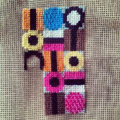 Licorice Allsort Cross Stitch by lilleursus Japanese Embroidery, Diy Embroidery, Embroidery Stitches, Needlepoint Belts, Needlepoint Designs, Liquorice Allsorts, Cross Stitch Quotes, Fabric Embellishment, Cross Stitch Pillow
