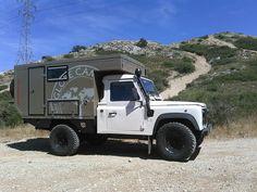 Land Rover Defender 90 Td5 Pickup Truck- Caravan convert.