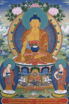 Today is Saka Dawa - the most important Tibetan Buddhist festival day – celebrating Shakyamuni Buddha's birth, enlightenment and parinirvana. Thangka by Tashi Dhargyal, blessed by HH the 14th Dalai Lama