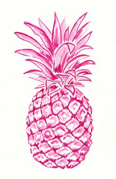 Pink Pineapple Art Print by Laura Dro Pineapple Art, Pineapple Drawing, Pinapple Decor, Pineapple Painting, Pineapple Wallpaper, Pineapple Watercolor, Pineapple Pictures, Pineapple Tattoo, Graphics