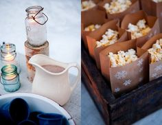 Winter Ice Skating Party (or Hot Cocoa & Popcorn) ~ Good Ideas, love it. blog from: thesweetestoccasion.com - party & photos by: http://www.beautifuldaysevents.com/ & http://www.genevehoffmanphotography.com/