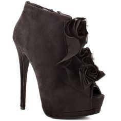 Skip - Black Suede by ZiGi Girl booties