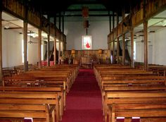 Inside Mokuaikaua Church in Old Kailua Town, Hawaii: Photo by Donnie MacGowan