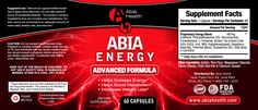 Need a boost of energy to pick you up throughout the day? Give Abia Energy a try! Abia Energy will give you a much needed jolt of energy as well as give your metabolism a boost. Couple this product with Abia Weight Loss to achieve great weight loss results. If you don't have any extra pounds you need to get rid of, you can take Abia Energy for that extra boost of energy and to keep your metabolism rate up. Abia Energy is gluten free and GMO free!  It's also dairy free & Vegan/Vegetarian…