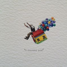 "Day 9 : 220 000 people witnessed the launch of ""Team Up"" (amongst 41 other teams) at the Red Bull Flugtag 2 years ago today. V&A Waterfront, Cape Town. 27 x 21 mm. @vandawaterfront #365postcardsforants #wdc624 #miniature #watercolour #redbullflugtag #capetown  (at V&A Waterfront)"