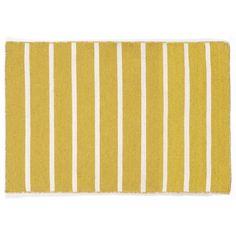 Trans Ocean Imports Liora Manne Sorrento Pinstripe Reversible Indoor Outdoor Rug, Yellow