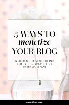 5 ways to monetize your blog - I've been blogging for over 6 years and have been successful monetizing my blog through these 5 strategies. If you're interested in making money from blogging, this is for you! http://www.wonderfelleworld.com/amazing-things-dont-happen-overnight-bonus-5-ways-to-monetize-your-blog/