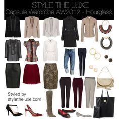 """""""Capsule Wardrobe AW2012 - Hourglass"""" by styletheluxe on Polyvore"""