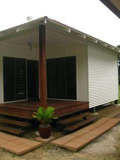 Artek Building Design - Taylor House plywood and corrugated colorbond cladding House Cladding, Exterior Cladding, Wall Cladding, Facade House, Cladding Ideas, Tropical Beach Houses, Tiny House Exterior, Tin House, Steel House