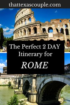 The Perfect 2 Day Rome Itinerary Are you looking for a great itinerary for 2 days in Rome? If so, then you have to read this post. We've included all of the Rome must see spots and included some great tips and tricks. Italy Travel Tips, Rome Travel, Travel Destinations, Travel Europe, Budget Travel, Vatican Tours, Rome Tours, European Destination, European Travel