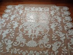 Antique  french bedspread by LeTresorDuVillage on Etsy, $250.00