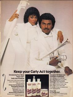Don't let that Jheri Curl dry out. This 1981 Classy Curl ad features Ola Ray from MJ's Thriller video.