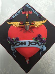 My fave!! Bon Jovi logo cake