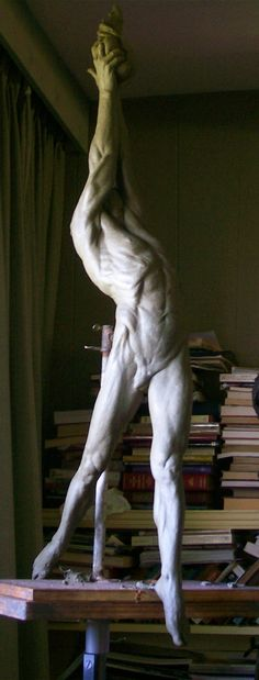 "Stephen Perkins  ""Prometheus"" cast for bronze.  --Whoa!  This is an extraordinary piece!!"