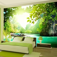 Wallpaper 300x210 cm - Non-woven - Murals - Wall - Mural - Photo - 3D - modern - nature landscape 10110903-19: Amazon.co.uk: DIY & Tools