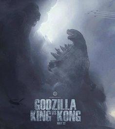 Godzilla vs King Kong, May 2020 Kong Movie, Movie Co, King Kong Vs Godzilla, Godzilla Godzilla, Godzilla Comics, Godzilla Costume, Godzilla Birthday Party, Godzilla Party, Godzilla Tattoo