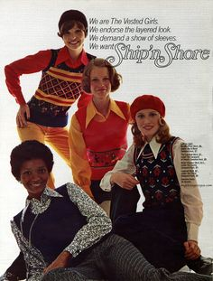 Ship'n Shore 1972 | myvintagevogue. My mother used I wear this brand of clothes!!