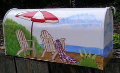 Beach Scene Mailbox