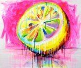 """Acid"", 2012acrylic, fluo, canvas 100x120 cm"