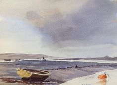 The flats.  Watercolour, by Patrick Durrant