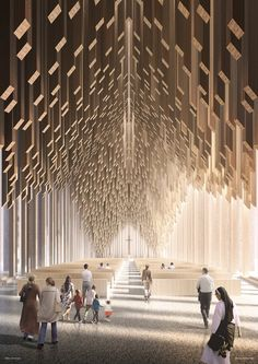 David Adjaye has revealed visuals of The Abrahamic Family House, an interfaith complex in Abu Dhabi that will host a church, mosque and synagogue. Parametric Architecture, Church Architecture, Architecture Design, Architecture Sections, Sacred Architecture, Contemporary Architecture, Guggenheim Abu Dhabi, Best Office, Small Office