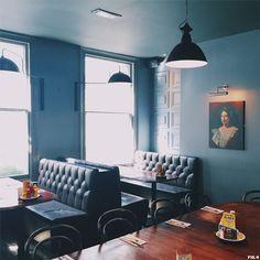 Enjoying how classy and beautifully muted this looks – Byron Hamburgers (London)
