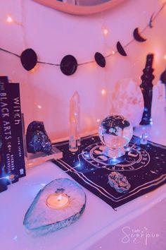 Home Decor Ideas Vintage Altar.Home Decor Ideas Vintage Altar Aesthetic Room Decor, Witch Aesthetic, Aesthetic Space, Boho Aesthetic, Aesthetic Dark, Aesthetic Pastel, Aesthetic Fashion, Pastel Decor, Cristal Art
