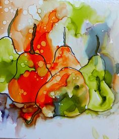 Alcohol inks on yupo alcohol ink crafts, alcohol ink painting, alcohol Alcohol Ink Glass, Alcohol Ink Crafts, Alcohol Ink Painting, Watercolor And Ink, Watercolor Paintings, Watercolors, Ink Paintings, Homemade Alcohol, Fruit Painting