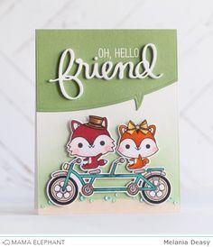 mama elephant | design blog: Oh, hello friend | Melania Deasy | STAMP HIGHLIGHT : FRIEND INDEED