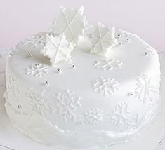 This stylish, shimmering cake is ideal if you've had some practice at cake decorating before