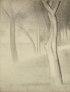Georges Seurat  French, 1859-1891, Trees (study for La Grande Jatte)